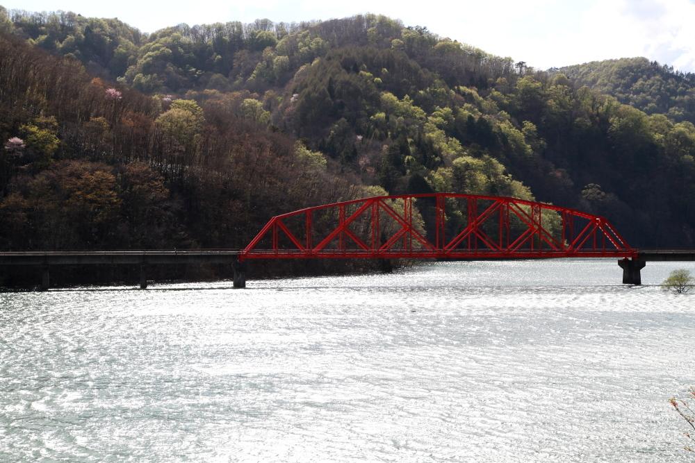 西和賀町 錦秋湖に沈む新緑 ラスト_e0165983_09422263.jpg