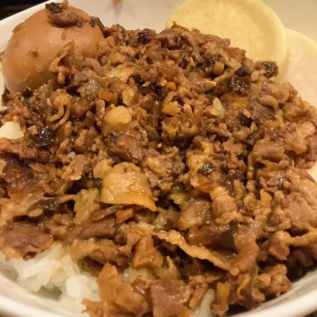 台湾小吃 滷肉飯、魯肉飯 (ルーローハン) なかなかの再現振りを自画自賛しておこう。_a0334793_13353486.jpg
