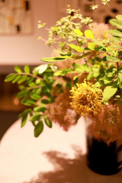黄色とオレンジの装花_b0208604_19361263.jpg