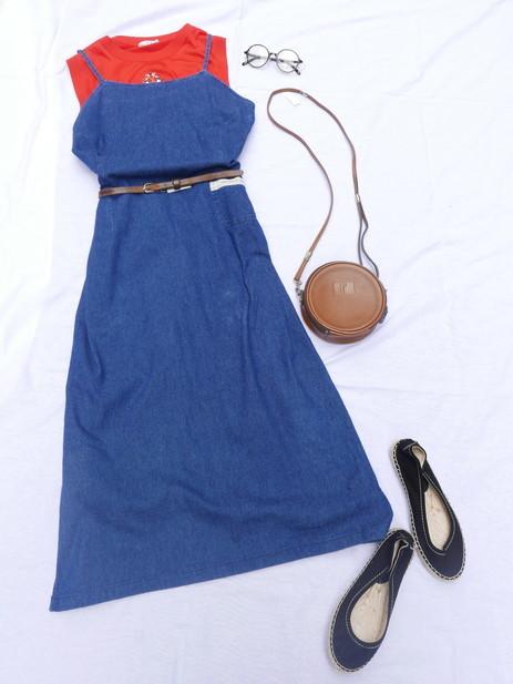 Coodinate denim jumper skirt_f0144612_09551023.jpg