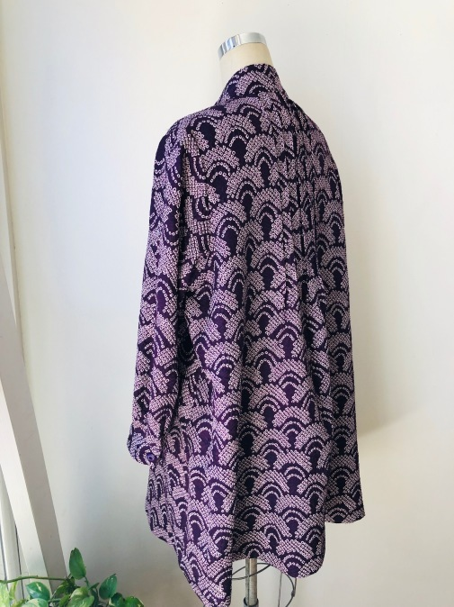 着物リメイク・絞りの羽織からピンタックチュニック_d0127925_09562423.jpg