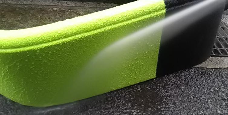 Line X を車全体に施工した車のイメージチェンジで Linexの上に色塗り_b0123820_10245092.jpg