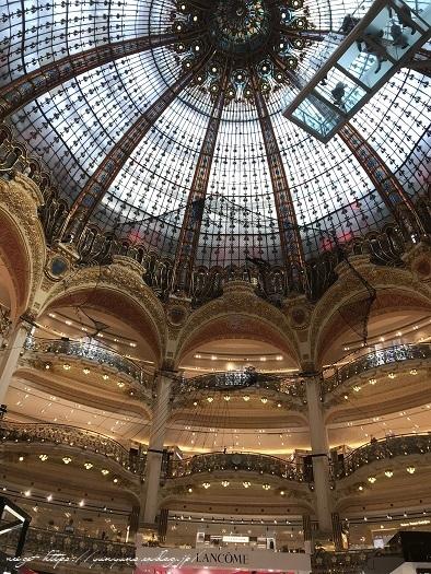 旅の予算と『ギャラリー・ラファイエット・パリ』天井の素敵なステンドグラス♪_f0023333_20224496.jpg