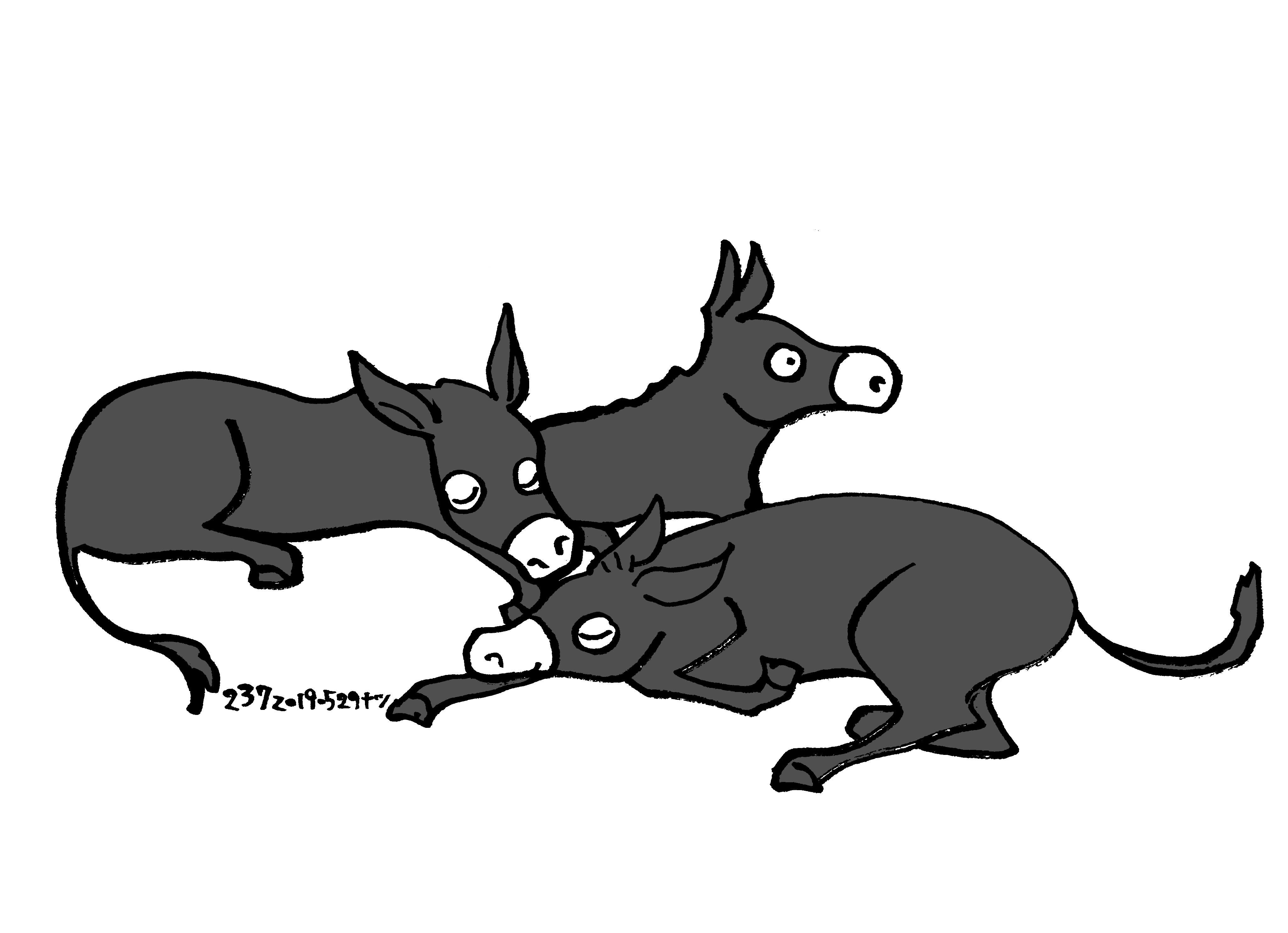 Aesop\'sFables イソップ寓話集より:237:驢馬を買う男_e0026053_14473498.jpg