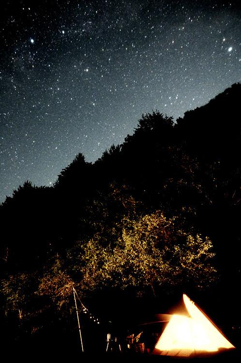 【Photo】キャンプの夜と、天の川、万葉の句_b0008655_23364197.jpg