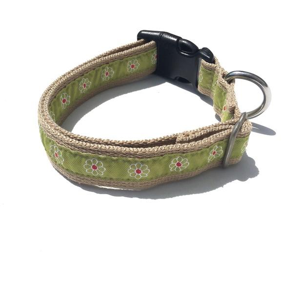 GEORGE green flower ribbon Collar   ジョージ グリーンフラワーリボンカラー_d0217958_1147840.jpg