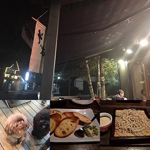 軽井沢川上庵のメニューを真似て。鶏もも肉の蕎麦粉揚げとアスパラとアーモンドのサラダ_a0223786_12040203.jpg