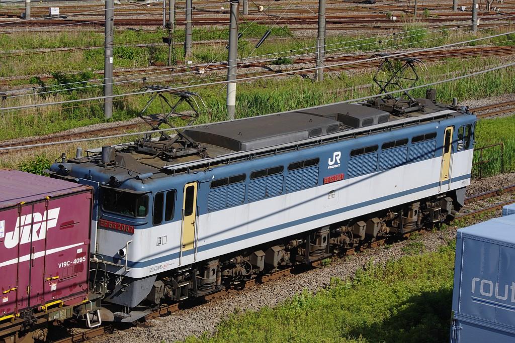 5/25東京貨物ターミナルにて78レのコキとコンテナ_f0203926_22495148.jpg