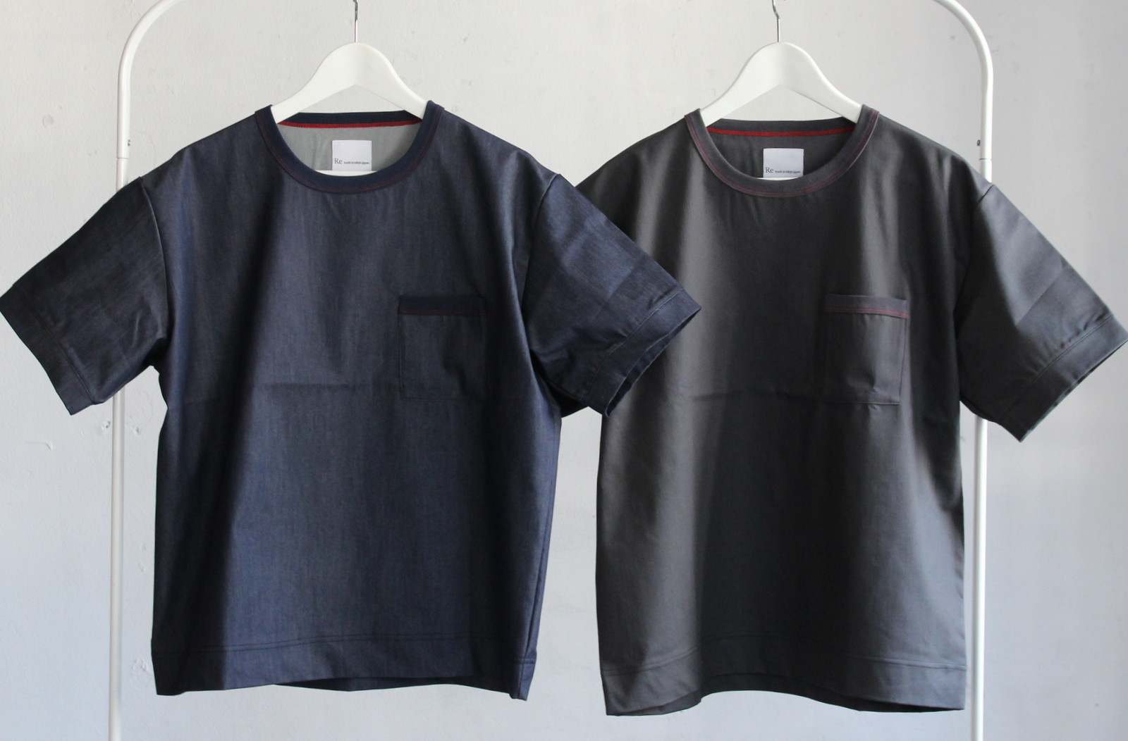 Cool Chambray Wide T-shirt _c0379477_19564836.jpg