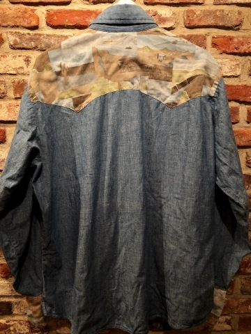 "1970s "" Levi\'s - BAT WING tag - \"" 100% cotton CHAMBRAY 切替 VINTAGE WESTERN SHIRTS ._d0172088_18544340.jpg"