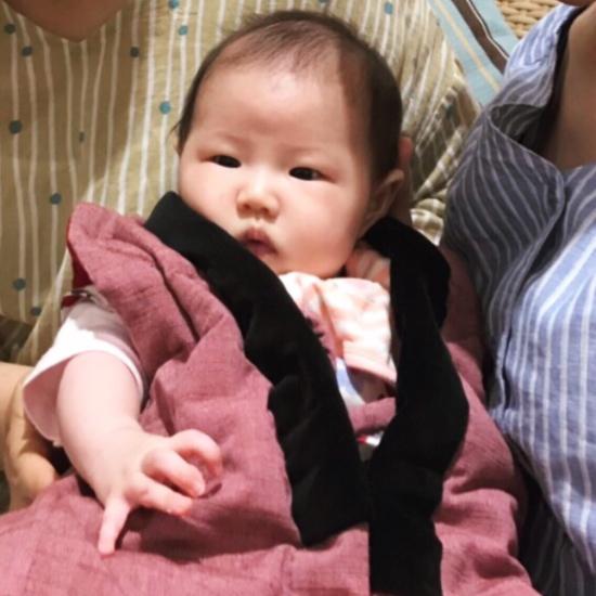 出産祝いにちゃんちゃんこ_e0143294_21024754.jpg