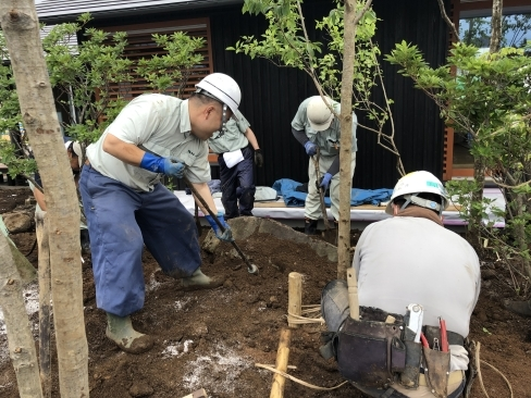 里山モデルハウス植栽工事_a0059217_23261804.jpg