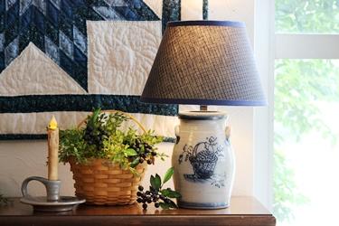 Rowe Pottery のポタリーのジャーをランプに_f0161543_16113184.jpg