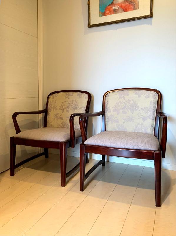 カリモク家具の椅子の再生実例_d0224984_17483937.jpg