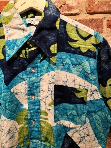"1960s "" STAN HICKS \"" 100% COTTON VINTAGE - HAWAIIAN SHIRTS - ココナッツ釦 ._d0172088_19184501.jpg"