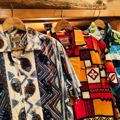 "1960s "" STAN HICKS \"" 100% COTTON VINTAGE - HAWAIIAN SHIRTS - ココナッツ釦 ._d0172088_21044351.jpg"