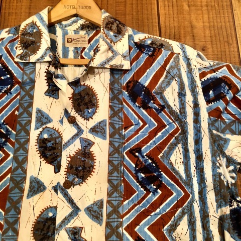 "1960s "" STAN HICKS \"" 100% COTTON VINTAGE - HAWAIIAN SHIRTS - ココナッツ釦 ._d0172088_21071305.jpg"