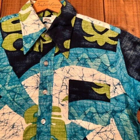 "1960s "" STAN HICKS \"" 100% COTTON VINTAGE - HAWAIIAN SHIRTS - ココナッツ釦 ._d0172088_21132778.jpg"