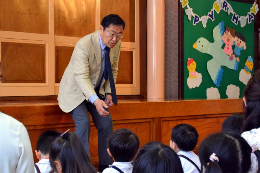 上宮第一幼稚園「お誕生会」_d0353789_10465849.jpg