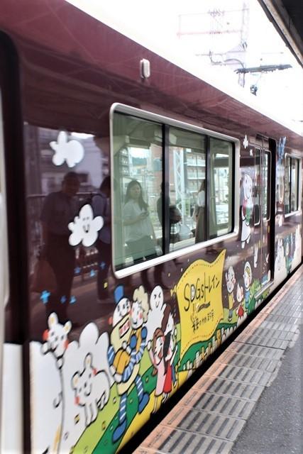 藤田八束の鉄道写真@可愛い阪急電車、阪急電車に新しいラッピング登場・・・子供たちに素敵な街づくり未来と希望_d0181492_22170938.jpg