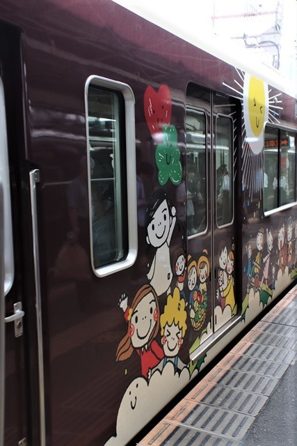 藤田八束の鉄道写真@可愛い阪急電車、阪急電車に新しいラッピング登場・・・子供たちに素敵な街づくり未来と希望_d0181492_22171846.jpg