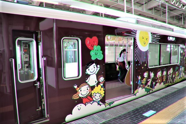 藤田八束の鉄道写真@可愛い阪急電車、阪急電車に新しいラッピング登場・・・子供たちに素敵な街づくり未来と希望_d0181492_22175088.jpg