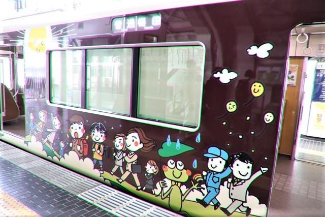 藤田八束の鉄道写真@可愛い阪急電車、阪急電車に新しいラッピング登場・・・子供たちに素敵な街づくり未来と希望_d0181492_22181456.jpg