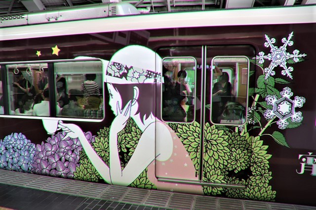 藤田八束の鉄道写真@可愛い阪急電車、阪急電車に新しいラッピング登場・・・子供たちに素敵な街づくり未来と希望_d0181492_22184726.jpg