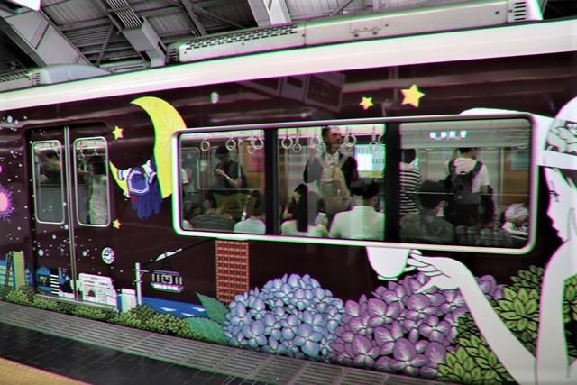 藤田八束の鉄道写真@可愛い阪急電車、阪急電車に新しいラッピング登場・・・子供たちに素敵な街づくり未来と希望_d0181492_22185574.jpg
