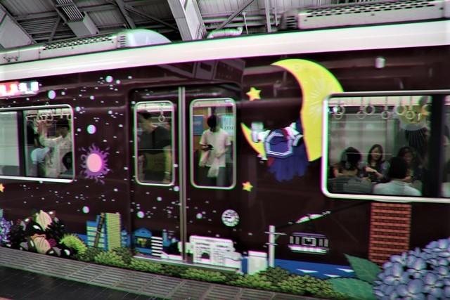 藤田八束の鉄道写真@可愛い阪急電車、阪急電車に新しいラッピング登場・・・子供たちに素敵な街づくり未来と希望_d0181492_22190381.jpg