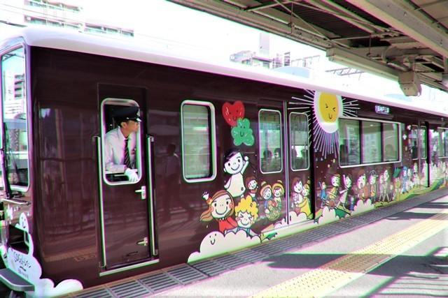 藤田八束の鉄道写真@可愛い阪急電車、阪急電車に新しいラッピング登場・・・子供たちに素敵な街づくり未来と希望_d0181492_22203047.jpg