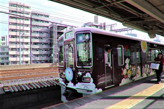 藤田八束の鉄道写真@可愛い阪急電車、阪急電車に新しいラッピング登場・・・子供たちに素敵な街づくり未来と希望_d0181492_22203862.jpg