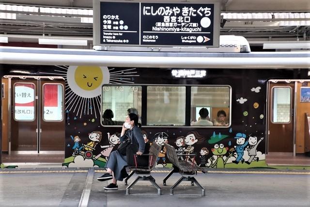 藤田八束の鉄道写真@阪急電車に楽しいラッピング、子供たちの未来が素敵な阪急電車・・・阪神電車にも登場_d0181492_22264030.jpg