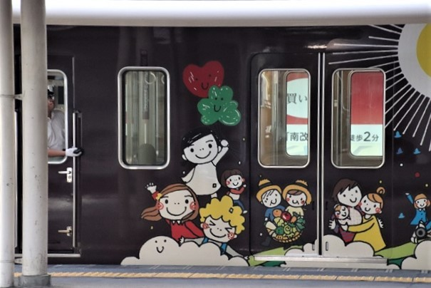 藤田八束の鉄道写真@阪急電車に楽しいラッピング、子供たちの未来が素敵な阪急電車・・・阪神電車にも登場_d0181492_22271374.jpg