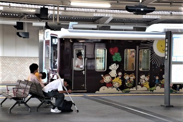 藤田八束の鉄道写真@阪急電車に楽しいラッピング、子供たちの未来が素敵な阪急電車・・・阪神電車にも登場_d0181492_22273035.jpg