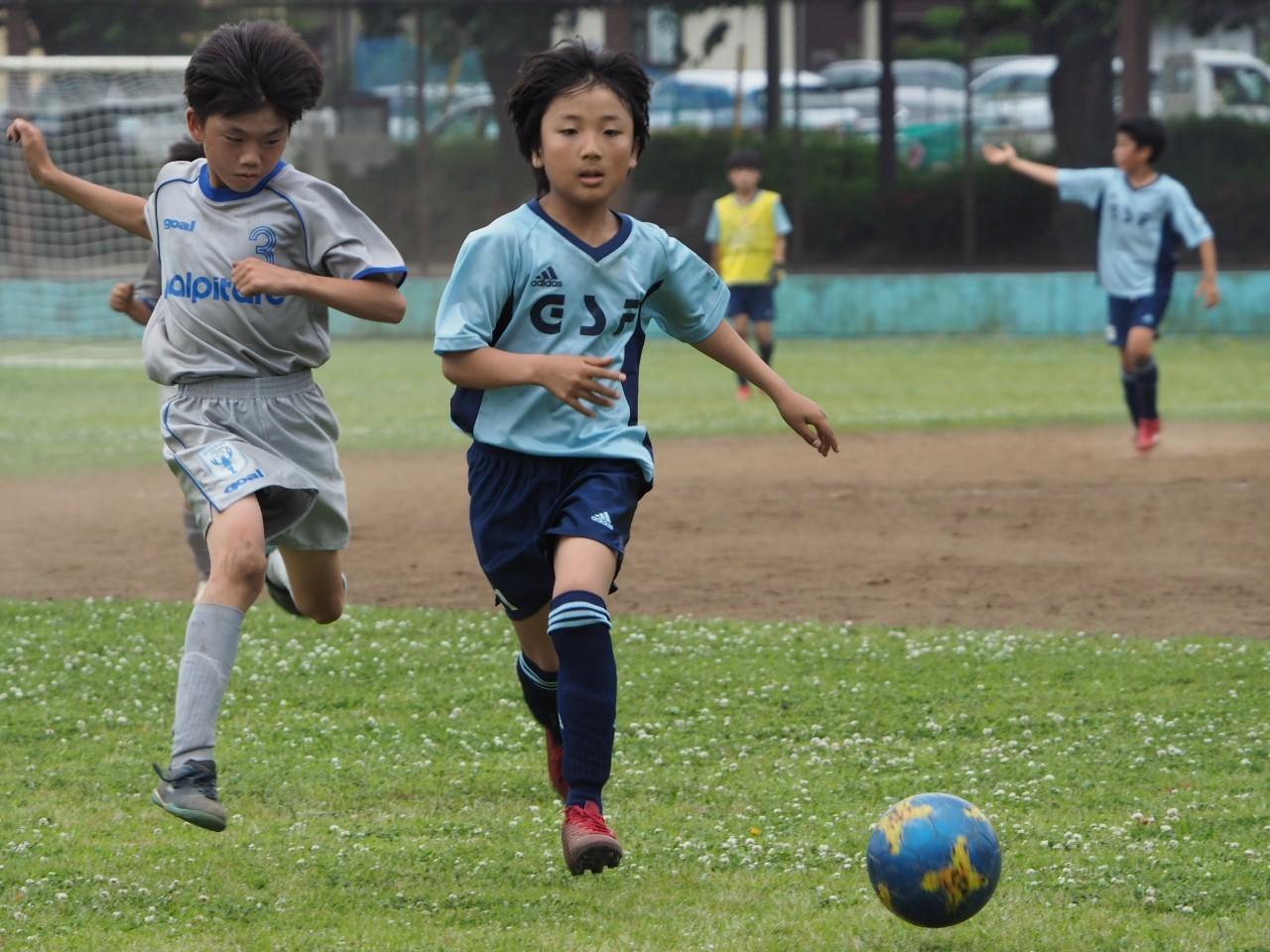 5年生 練習試合 対FCパルピターレ_a0109316_13324200.jpg