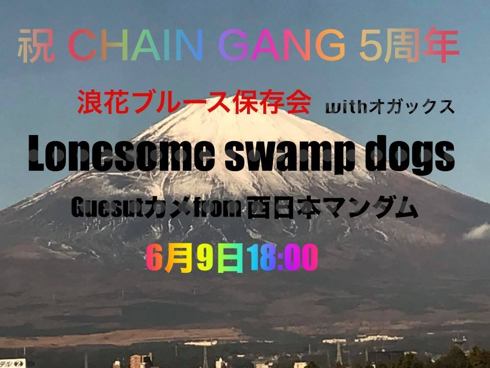 カメ&孝喜(Lonesome swamp dogs)出演/吉祥寺Chain Gang 5th anniversary party_c0132052_10314362.jpg