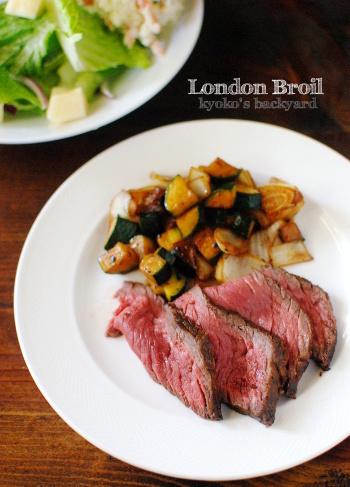 ロンドンブロイルこと牛肉のたたき。オット作のふわふわオートミールクッキー_b0253205_01552450.jpg