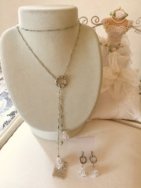 ❀Crystal Drops Lariat & Earrings❀_c0368764_22474151.jpg
