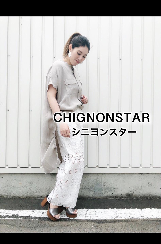 「CHIGNONSTAR シニオンスター」BACKロングシャツ入荷です。_c0204280_16204204.jpg