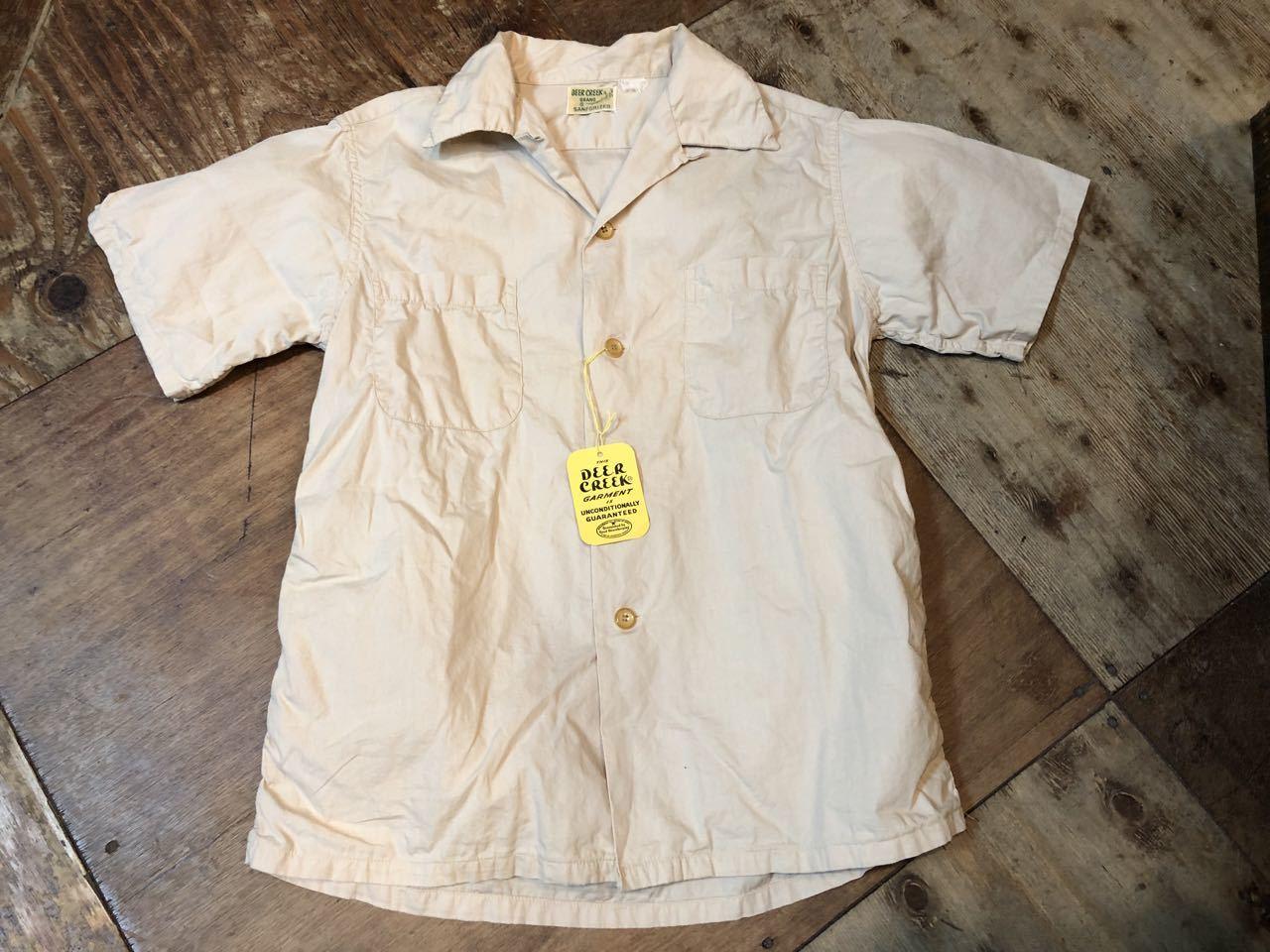 6月6日(木)入荷!One Wash ! 50s Deercreek all cotton オープンカラー ボックスシャツ!_c0144020_12595816.jpg