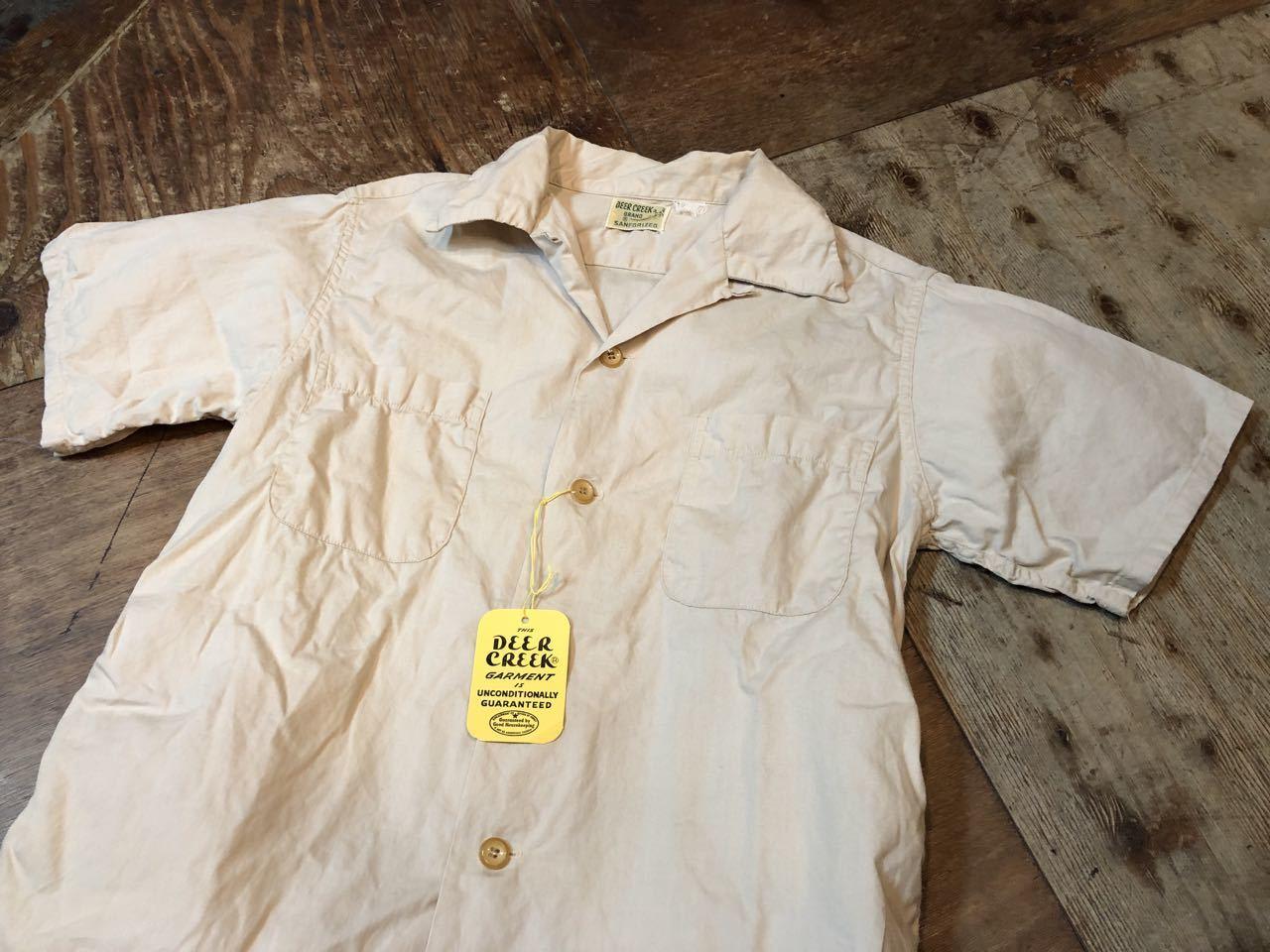 6月6日(木)入荷!One Wash ! 50s Deercreek all cotton オープンカラー ボックスシャツ!_c0144020_13000174.jpg
