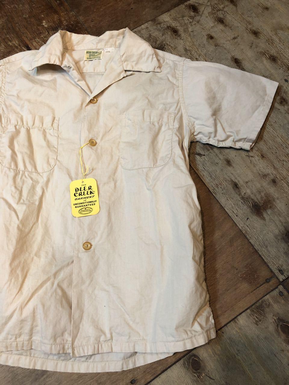 6月6日(木)入荷!One Wash ! 50s Deercreek all cotton オープンカラー ボックスシャツ!_c0144020_13000377.jpg