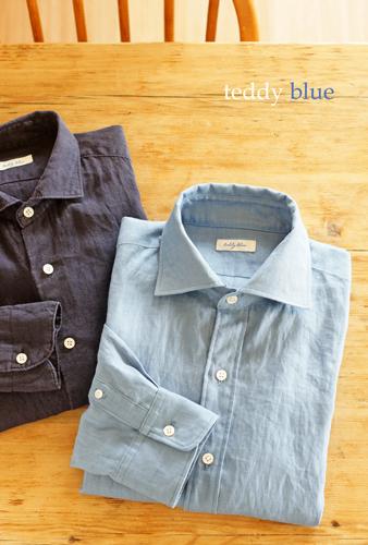 Men\'s linen shirts  メンズリネンシャツ_e0253364_09192738.jpg