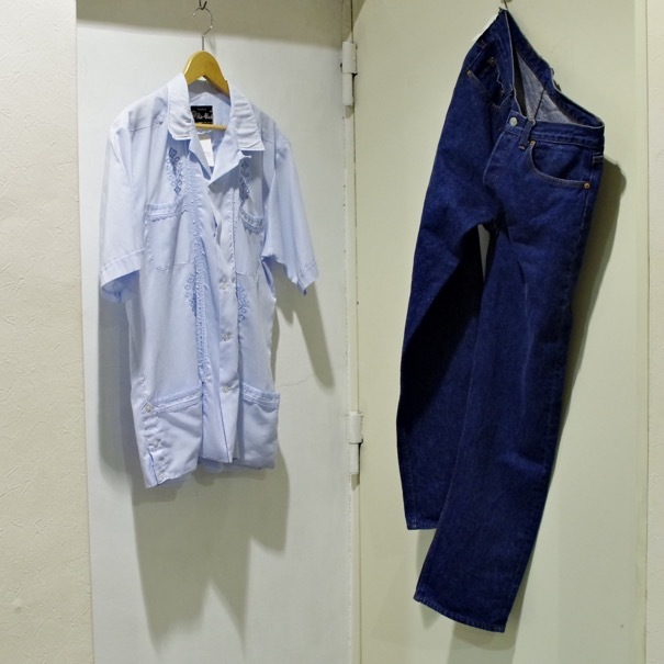 かなり濃い、リーバイス501 アメリカ製 & キューバシャツ_d0257333_22005958.jpg