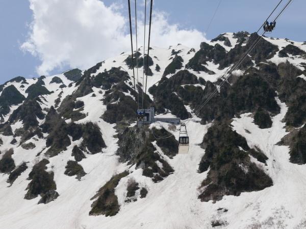 立山黒部アルペンルート ロープウェイで大観峰へ_a0351368_10553403.jpg
