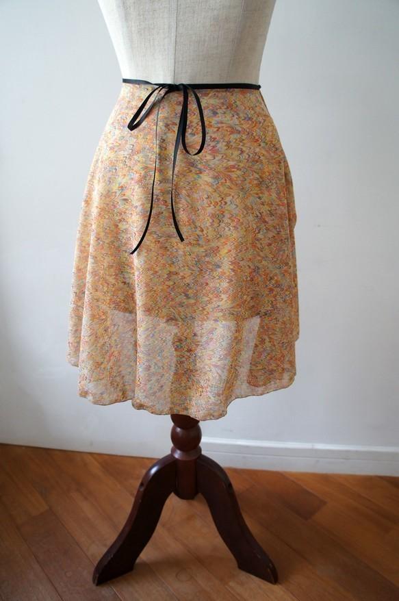 ***New***バレエ ラップスカート[マーブル・オレンジ]_b0195783_14270521.jpg