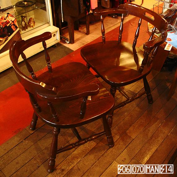 Vintage キツツキ アームチェア 2脚セット ラウンジハイト_e0243096_20314092.jpg