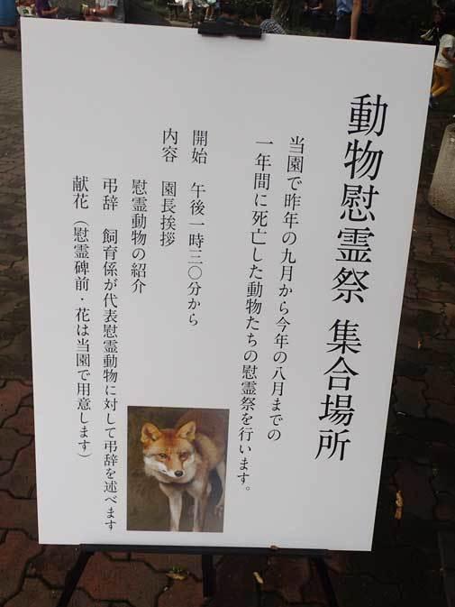 井の頭自然文化園 動物慰霊祭( September 2018)_b0355317_12043241.jpg