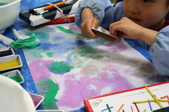 やと子ども美術教室 ~ 水を描く ~_e0222340_1522483.jpg